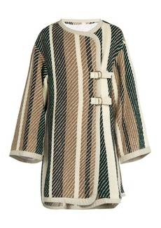 See By Chloé Contrast-striped oversized woven coat