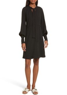 See by Chloé Crepe Tie Neck Dress