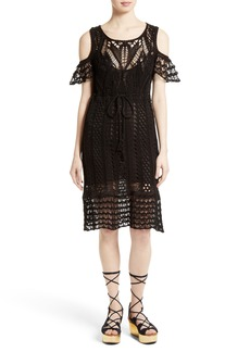 See by Chloé Crochet Cold Shoulder Dress