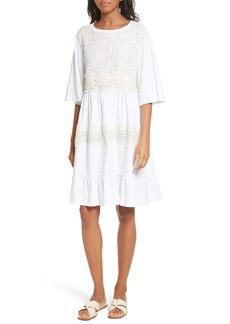 See by Chloé Crochet Panel Dress