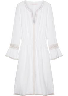 See by Chloé Crochet-trimmed Piqué Dress