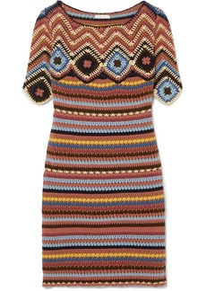 See by Chloé Crocheted cotton mini dress