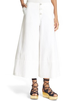See by Chloé Crop Wide Leg Trousers