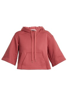 See By Chloé Cropped cotton-jersey hooded sweatshirt