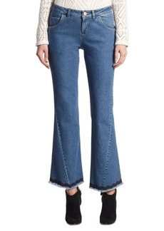 See by Chloé Cropped Flare Denim Jeans