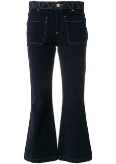See By Chloé cropped flared trousers - Blue