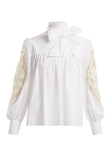 See By Chloé Crotchet-embellished cotton blouse