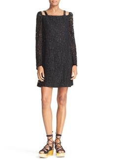 See by Chloé Cutout Lace Shift Dress