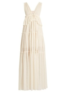 See By Chloé Deep V-neck gauze-jersey dress