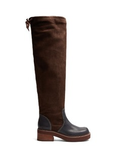 See By Chloé Dominika suede and leather knee-high boots