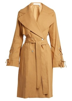 See By Chloé Double-breasted linen-twill trench coat