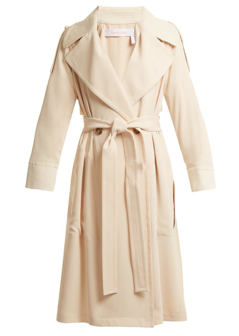0f89332935 Double-breasted tie-waist trench coat
