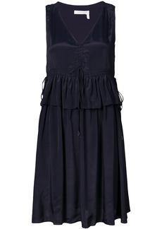 See By Chloé drawstring peplum dress - Blue