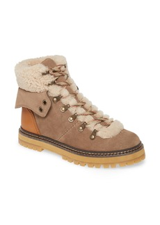 See by Chloé Eileen Genuine Shearling Hiking Boot (Women)