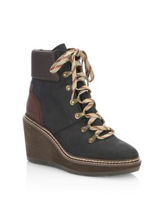 See by Chloé Eileen Leather Wedge Booties