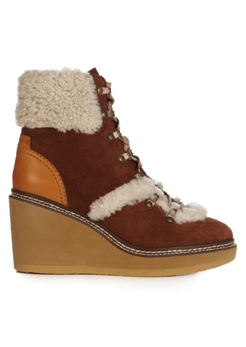 8cf7e07862f Eileen suede and shearling ankle boots