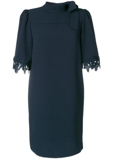 See By Chloé embellished sleeve dress - Blue