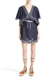 See by Chloé Embroidered Cotton Poplin Dress (Nordstrom Exclusive)