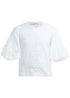See By Chloé Embroidered cotton top