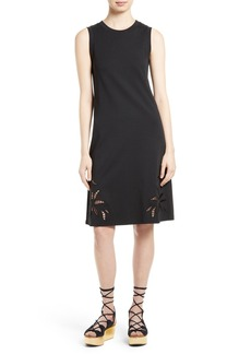 See by Chloé Embroidered Cutout Tank Dress