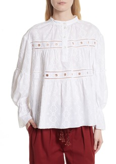 See by Chloé Embroidered Eyelet Blouse