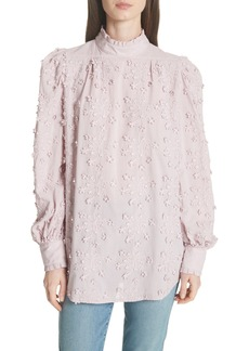 See by Chloé Embroidered Floral Blouse
