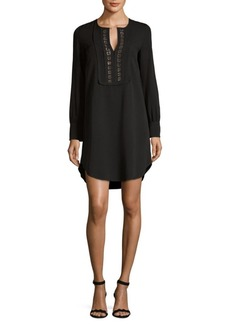 See by Chloé Embroidered Long-Sleeve Dress