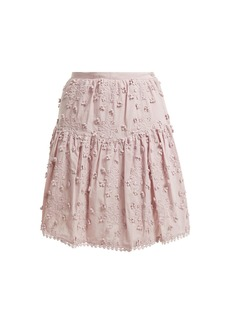 See By Chloé Embroidered mini skirt