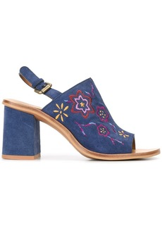 See By Chloé embroidered sandals - Blue