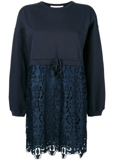 See By Chloé embroidered sweatdress - Blue