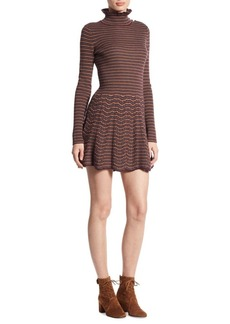 See by Chloé Embroidered Wool Dress