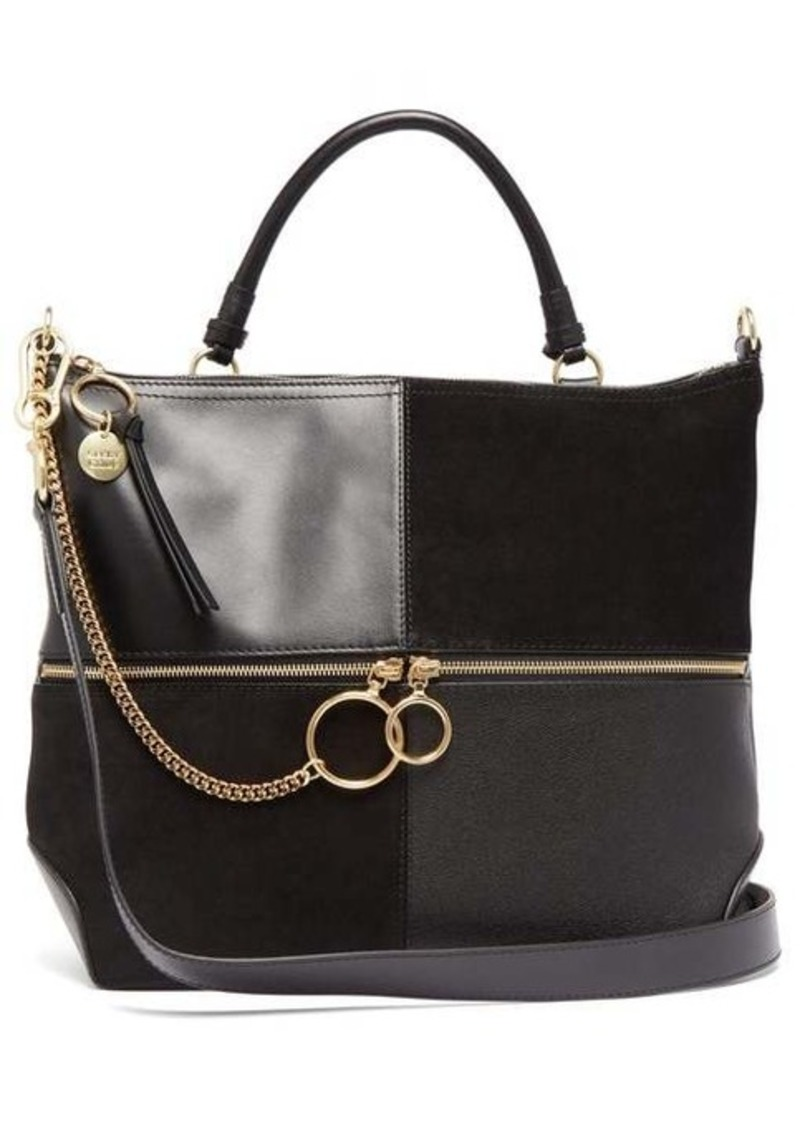 See By Chloé Emy large suede and leather tote bag