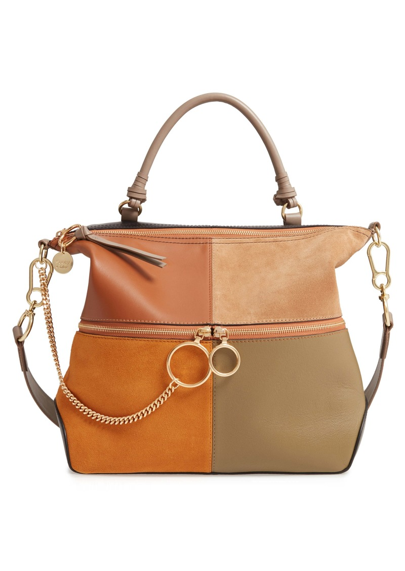 See by Chloé Emy Suede & Leather Satchel