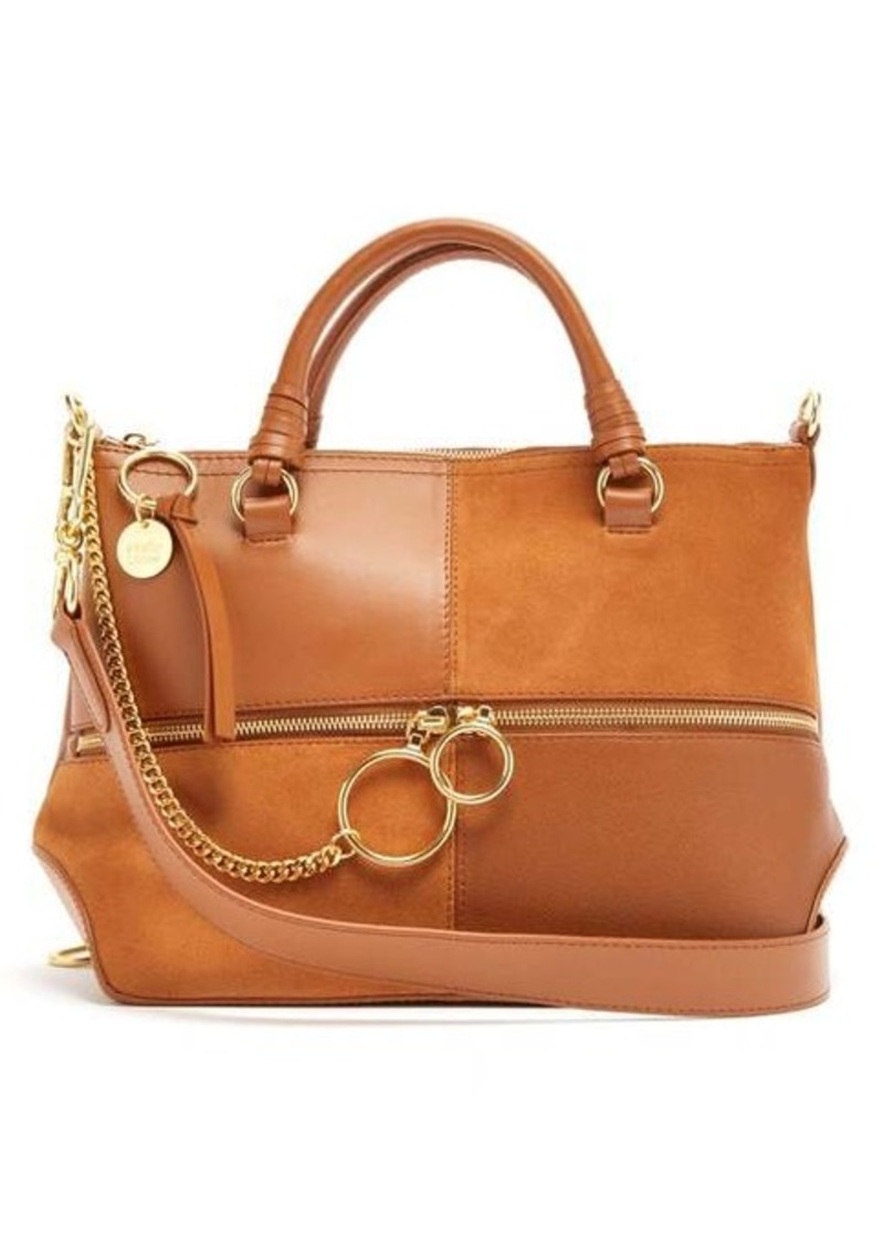 See By Chloé Emy medium suede and leather bag