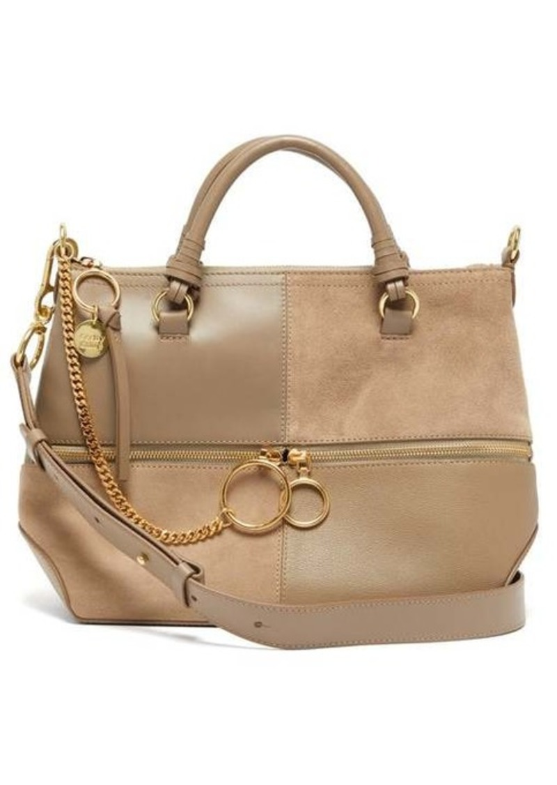 See By Chloé Emy suede and leather tote bag