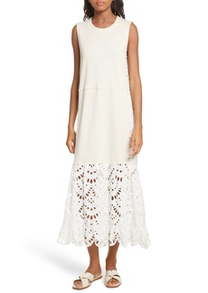 See by Chloé Eyelet Panel Dress