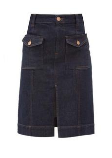 See By Chloé Flap-pocket denim skirt