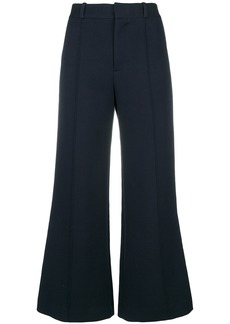 See By Chloé flared cropped trousers - Blue