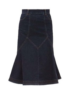 See By Chloé Flared denim midi skirt
