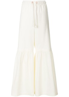 See By Chloé flared drawstring trousers - White