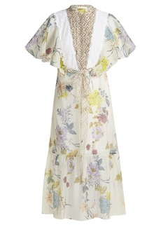 See By Chloé Floral and geometric-print chiffon maxi dress