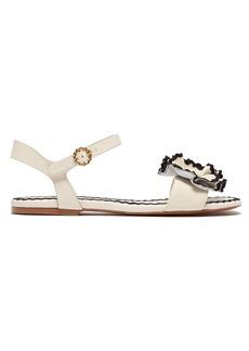 See By Chloé Floral-appliqué leather sandals