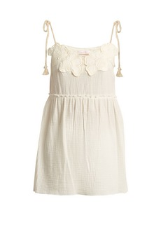 See By Chloé Floral-embroidered cotton top