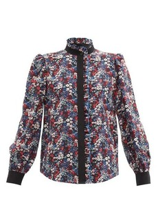 See By Chloé Floral Meadow-print silk crepe-de-Chine blouse