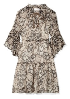 See by Chloé Floral-print cotton and silk-blend crepon dress