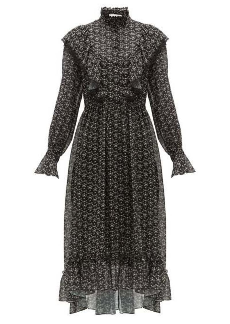 See By Chloé Floral-print crepe midi dress