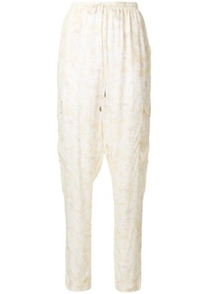 See By Chloé floral print relaxed trousers - Nude & Neutrals
