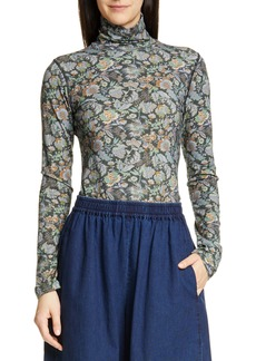 See by Chloé Floral Print Turtleneck Top