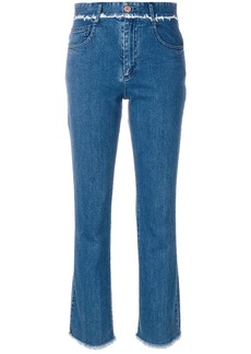 See By Chloé frayed trim jeans - Blue