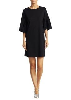 See by Chloé Frill Cotton T-Shirt Dress
